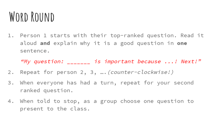 Word-Round ASE