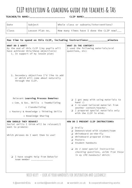 Generic CLIP reflection sheet